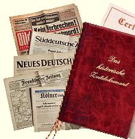 Tageszeitung(en) vom Tag der Geburt – tolles Geschenk - Eine Nahaufnahme von einem Stück Papier - Basel