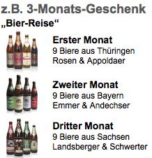 Bier Geschenke: Bier-Genuss Abo verschenken - Eine nahaufnahme von einer flasche - Glasflasche