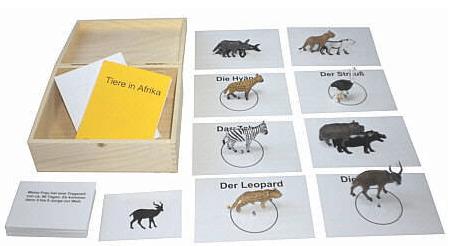 Spielfiguren: Tiere aus Afrika – Lernmaterial - Eine Nahaufnahme von einem Tier - Produktdesign