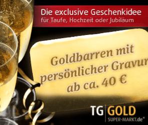 Goldbarren mit Gravur, ein wertbeständiges Weihnachtsgeschenk - Eine Tasse Kaffee - Alkoholische Getränke