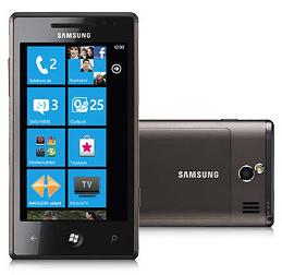 Samsung Omnia 7 mit Vertrag verschenken - Bildschirm eines Handys - Smartphone