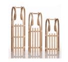 Holzschlitten kaufen für den Winterspaß - Eine Nahaufnahme von einem Gestell - Sirch Hörnerrodel Esche mit Gurtsitz 115 cm