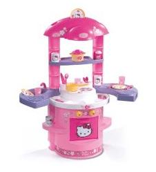 Für Mädchen: Küche von Hello Kitty - Ein rotes Kästchen auf einem Tisch - Spielzeug