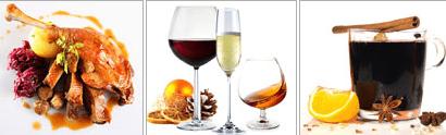Weihnachtliche Lebensmittel und Spirituosen verschenken - Ein Glas Wein - Gasthof Restaurant ADLER