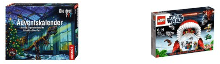 Adventskalender mit Spielzeug für Kinder und Kleinkinder - Eine Nahaufnahme von einem Schild - Lego Star Wars