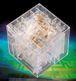 Geldwürfel: das Labyrinth zum Verstecken des Geldgeschenks