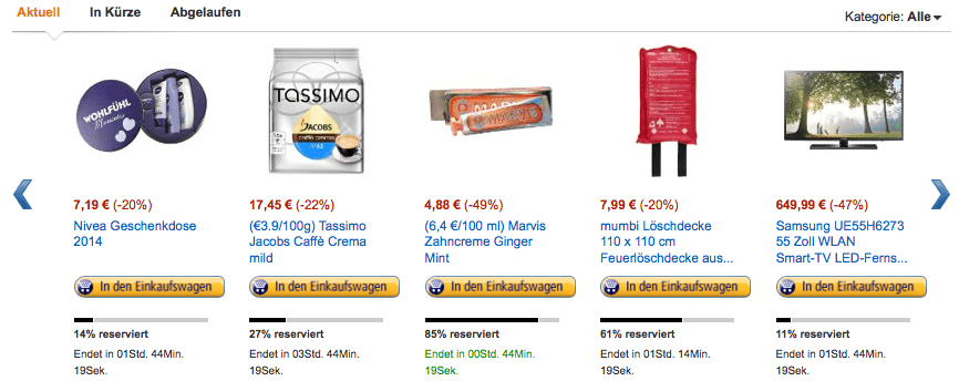 Amazon Cyber Monday 2014 Angebote mit Countdown