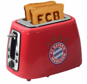 Toaster, der das Bayern Logo toastet